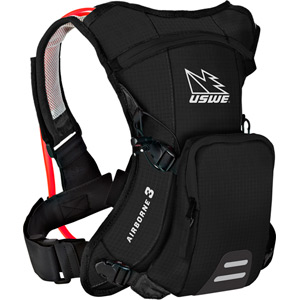 USWE Hydration Airborne 3 Hydration Pack 1L Cargo With 2.0L Shape-Shift Bladder Carbon Black black