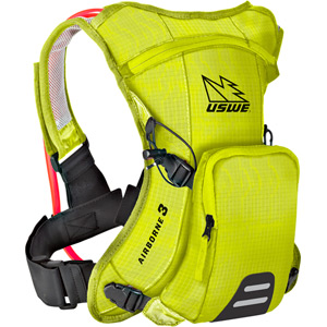 USWE Hydration Airborne 3 Hydration Pack 1L Cargo With 2.0L Shape-Shift Bladder Crazy Yellow yellow