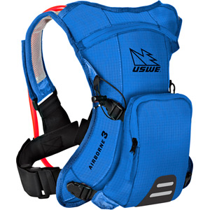 USWE Hydration Airborne 3 Hydration Pack 1L Cargo With 2.0L Shape-Shift Bladder Race Blue blue