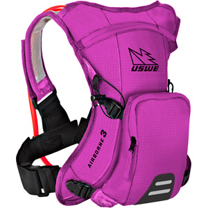 USWE Hydration Airborne 3 Hydration Pack 1L Cargo With 2.0L Shape-Shift Bladder Go Pink pink
