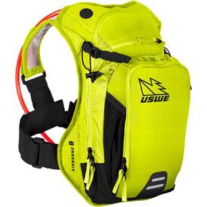 USWE Hydration Airborne 9 Hydration Pack 6L Cargo With 3.0L Elite Bladder Crazy Yellow yellow