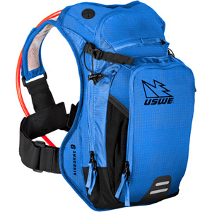 USWE Hydration Airborne 9 Hydration Pack 6L Cargo With 3.0L Elite Bladder Race Blue blue