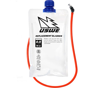 USWE Hydration 500ml Disposable Bladder With Bite Valve & Hose Kit clear