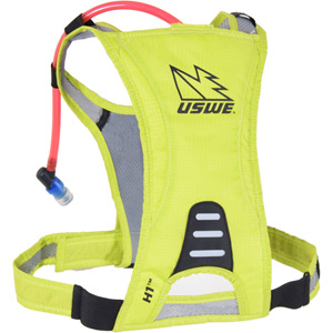 USWE Hydration H1 Racer Hydration Pack with 500ml Disposable Bladder Crazy Yellow yellow