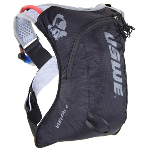 USWE Hydration Vertical 4 Run Pack with 2L Shape Shift Bladder Carbon Black black