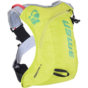 USWE Hydration Vertical 4 Run Pack with 2L Shape Shift Bladder Crazy Yellow yellow