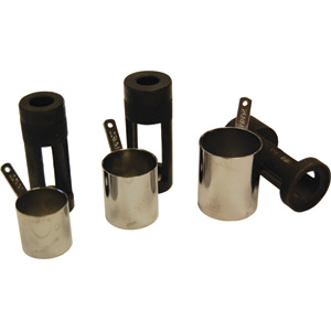 Valve spring compressor bore protector and adapter set