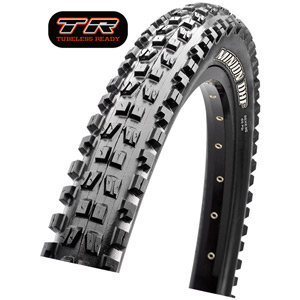 Maxxis Minion DHF 27.5x2.8 60 TPI Folding Dual Compound EXO / TR tyre Black