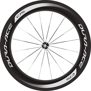 WH-9000-C75-TU Dura-Ace wheel, carbon tubular 75 mm, pair