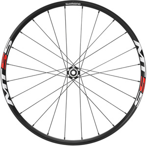 WH-MT55 XC wheel, 15 x 100 mm axle, 26in clincher, black, front