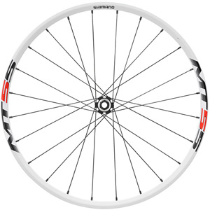 WH-MT55 XC wheel, 15 x 100 mm axle, 26in clincher, white, front