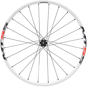 WH-MT55 XC wheel, Q/R 135 mm axle, 26in clincher, white, rear