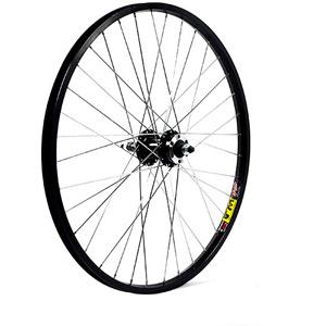 24 x 1.75 alloy 6 bolt or rim brake for multi freewheel black rear wheel