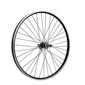 27.5 x 1.75 alloy 6 bolt disc or rim brake QR freewheel black rear wheel