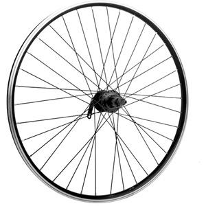 27.5 x 1.75 alloy 6 bolt disc or rim brake QR cassette black rear wheel