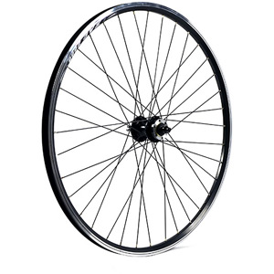 29 x 1.75 alloy 6 bolt disc or rim brake QR axle 100 mm black front wheel