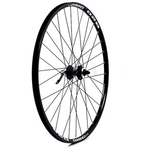 29 x 1.75 alloy 6 bolt disc brake only QR axle 100 mm black front wheel