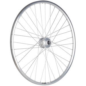 Shimano DH3N72A Dynamo / Mavic A319 silver / DT Swiss Comp 36 hole front wheel