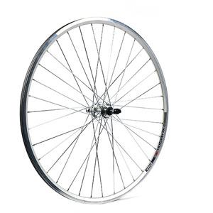700C x 13 mm alloy QR for multi freewheel 130 mm silver rear wheel
