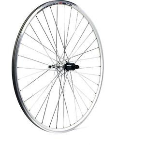 700C x 13 mm alloy hub 36 hole QR axle cassette 130 mm silver rear wheel