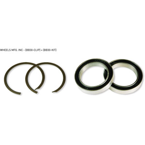 BB30 service kit with 2 clips and 2 x 6806 angular contact bearings
