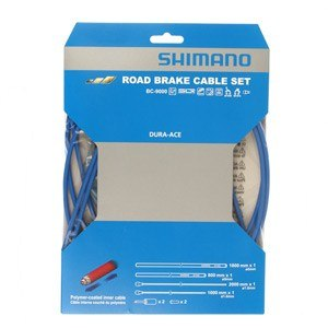 BC-9000 brake cable outer casing for road bikes, 5 mm x 40 m, blue
