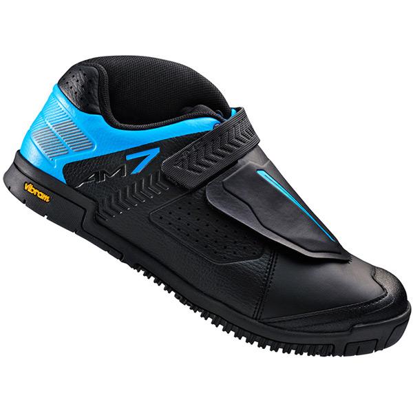 AM7 flat sole shoes, black / blue, size 39