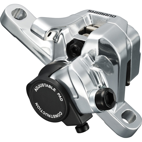 BR-R517 calliper, without rotor, post mount, front or rear, silver