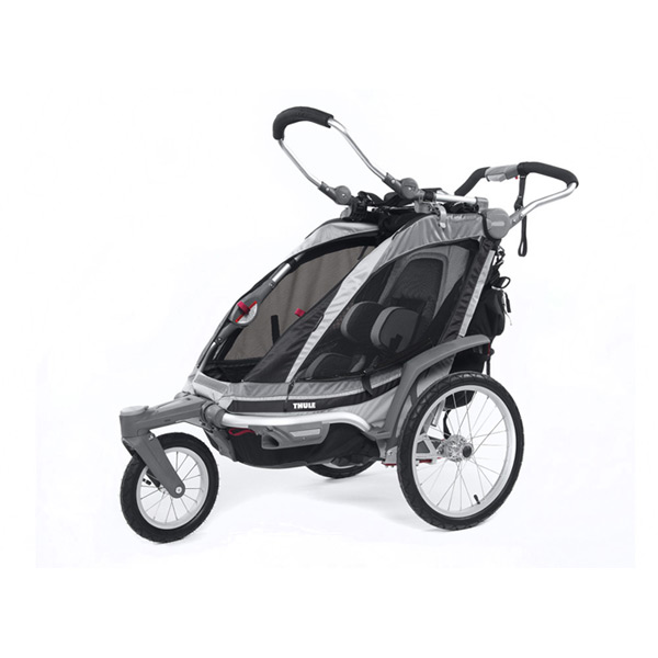 Chinook 1 child carrier U.K. certified- charcoal / black / silver