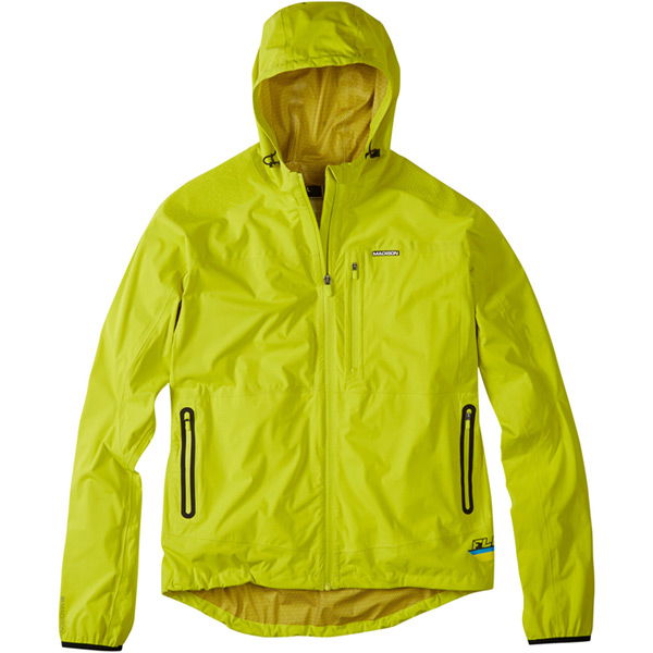Flux super light men's softshell jacket, limeaid small