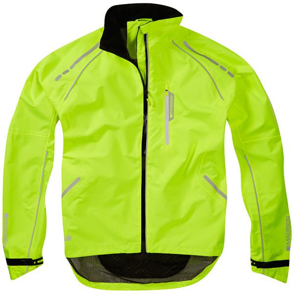 Prime men's waterproof jacket, hi-viz yellow X-large
