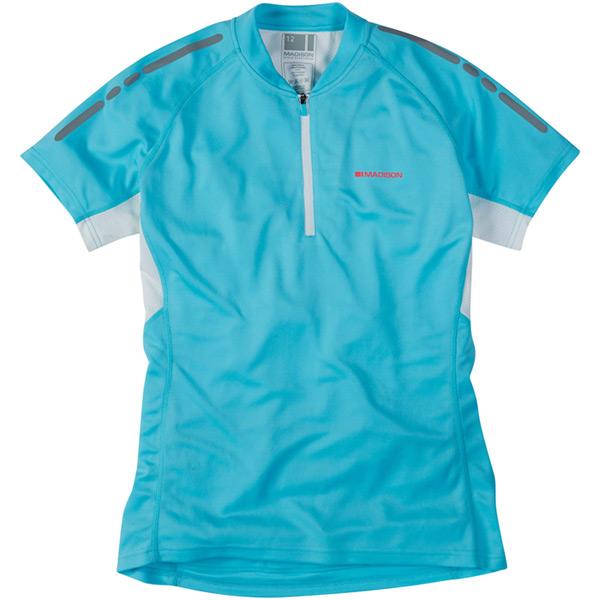 Stellar women 39 s short sleeved jersey blue fish size 16 for Blue fishing nj