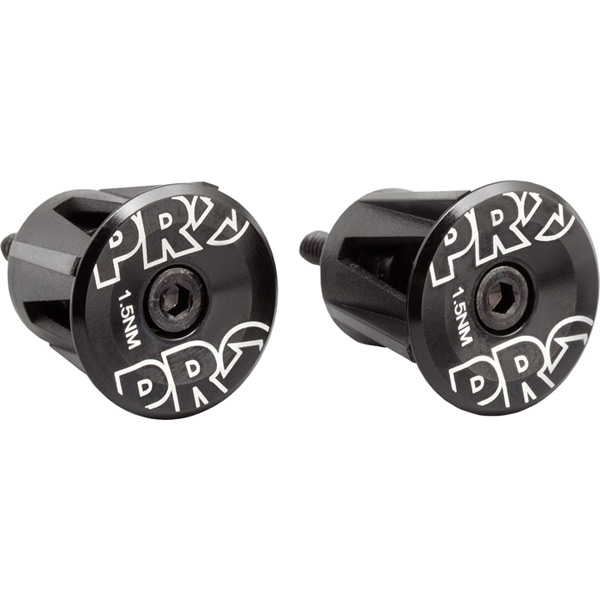 Handlebar end plug, anodized alloy, black