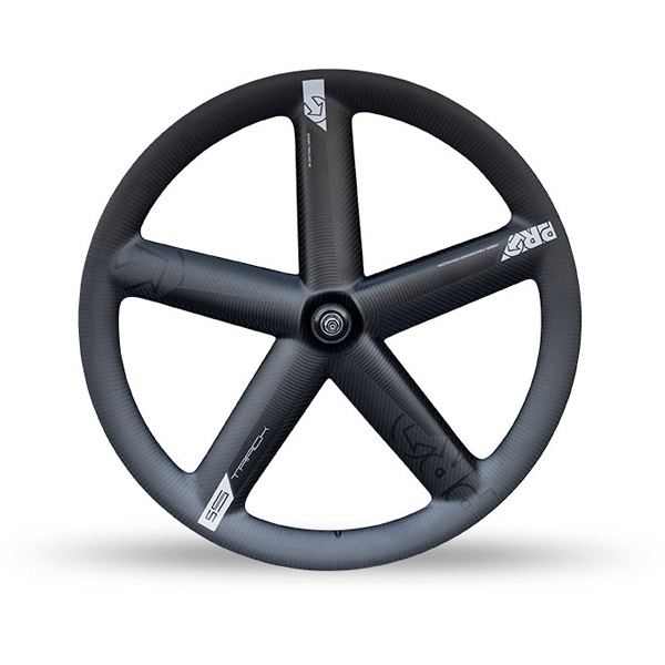 Carbon track 5-spoke wheel with Shimano Dura-Ace track hub - tubular front