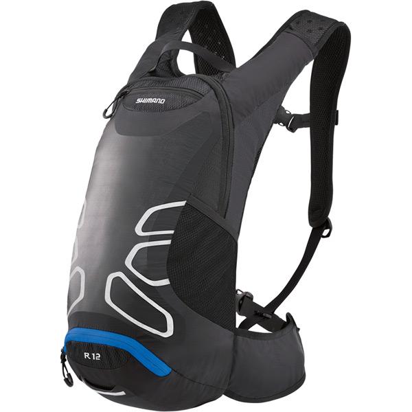 Rokko R12, 12 litre volume daypack, without reservoir, black / blue